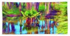 Palms In Estuary II Beach Towel