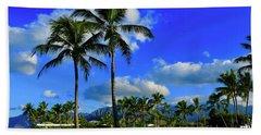 Palms In The Morning Beach Towel