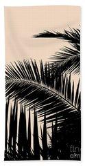Palms On Pale Pink Beach Sheet