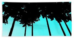 Palms Up Beach Towel by Sadie Reneau