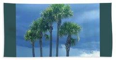 Palmy Skies Beach Towel by Rachel Hannah