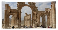 Palmyra Before...triumphal Arch Beach Towel