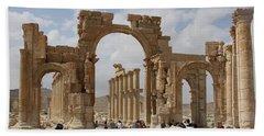 Palmyra Before...triumphal Arch Beach Sheet
