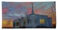 Palmyra Temple At Sunset Beach Towel