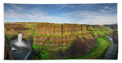 Palouse Falls Canyon Beach Towel