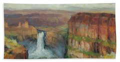 Palouse Falls  Beach Towel