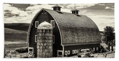 Palouse Icon In Sepia Beach Towel by Mark Kiver