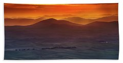 Palouse Sunrise  Beach Towel by Ronald Spencer