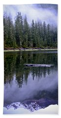 Pamelia Lake Reflection Beach Towel