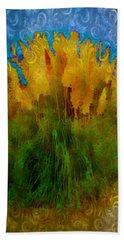 Pampas Grass Beach Towel by Iowan Stone-Flowers