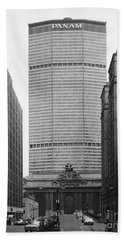 Beach Towel featuring the photograph Pan Am Building by Granger