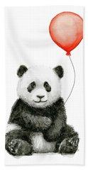 Panda Baby And Red Balloon Nursery Animals Decor Beach Towel