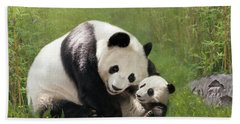 Panda Bears Beach Towel