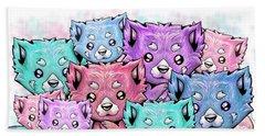 Curious Pandas Beach Towel