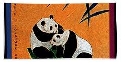 Panda Friends Beach Sheet