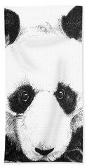 Panda Portrait Beach Sheet