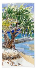 Pandanus Tree On Tapuaetai, Aitutaki Beach Sheet