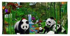 Panda's Paradise Beach Towel