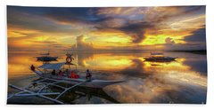 Beach Sheet featuring the photograph Panglao Port Sunset 10.0 by Yhun Suarez