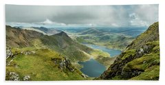 Beach Towel featuring the photograph Pano Snowdonia by Nick Bywater