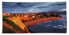 Panorama Of Aixerrota Sunset Beach Sheet
