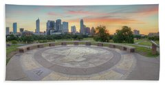 Panorama Of Downtown Austin, Texas, 3 Beach Towel by Rob Greebon