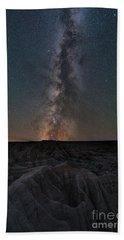 Panorama Point Milky Way Badlands  Beach Towel