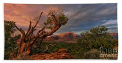 Beach Towel featuring the photograph Panorama Storm Back Of Zion Near Hurricane Utah by Dave Welling