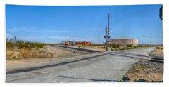 Panoramic Railway Signal Beach Sheet