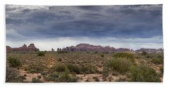 Panoramic View At Arches National Park Beach Towel