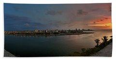 Panoramic View Of Havana From La Cabana. Cuba Beach Sheet