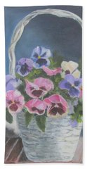 Pansies For A Friend Beach Sheet
