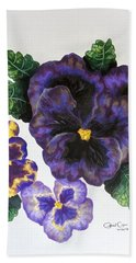 Pansy Beach Towel