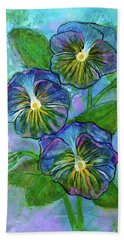 Pansy On Water Beach Sheet by Janet Immordino