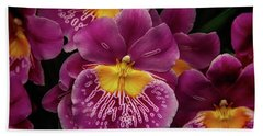 Pansy Orchid Beach Towel by Garry Gay
