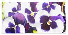 Pansy Party Beach Towel