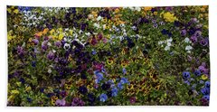 Pansy Patch Beach Towel by Jocelyn Kahawai
