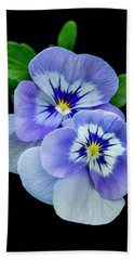 Pansy Portrait Beach Sheet