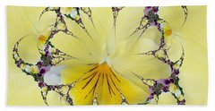 Pansy Swirls Beach Towel
