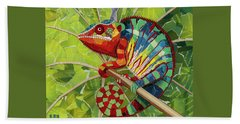 Panther Chameleon Beach Towel