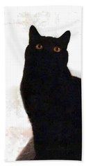 Panther The British Shorthair Cat Beach Sheet