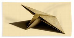 Paper Airplanes Of Wood 7 Beach Sheet