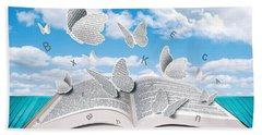 Paper Butterflies Beach Sheet