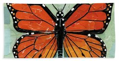 Paper Butterfly - Monarch Beach Towel