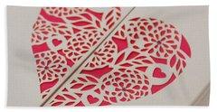 Paper Cut Heart Beach Sheet