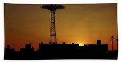Parachute Jump Coney Island Beach Sheet