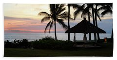 Paradise At Dusk Beach Towel