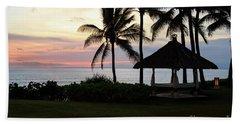 Paradise At Dusk Beach Sheet