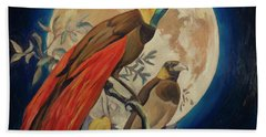 Paradise Birds Beach Towel by Nop Briex