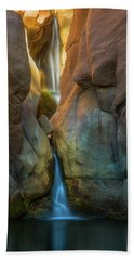 Beach Towel featuring the photograph Paradise Falls by Darren White